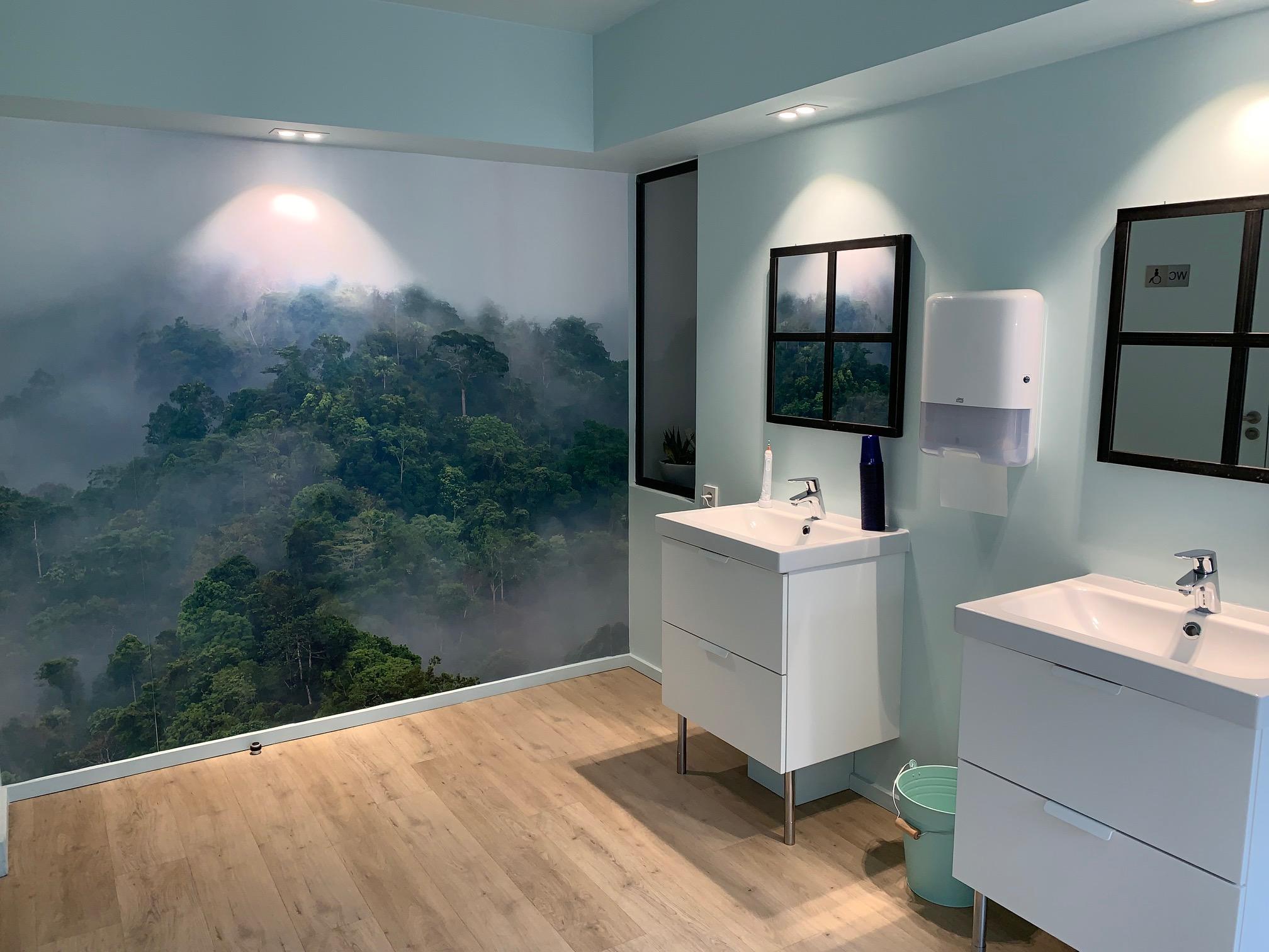Les toilettes du cabinet d'orthodontie Cavrot Wambergue